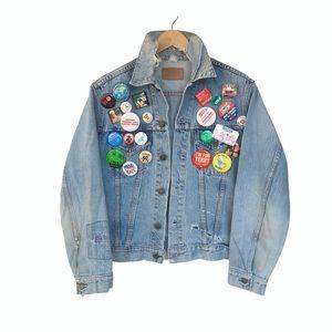 "Rare Vintage Levi's ""Big E"" Jacket w/ Vintage Pins"